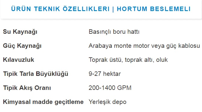 LİNEAR HORTUM BESLEMELİ